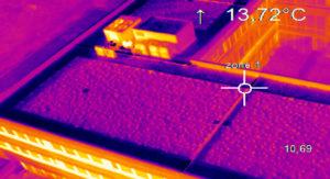 Détection de point chaud drone Bâtiment
