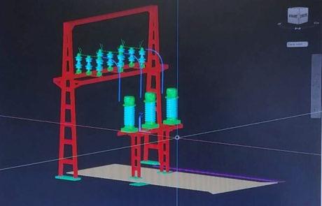 Modélisation 3D départ ligne poste
