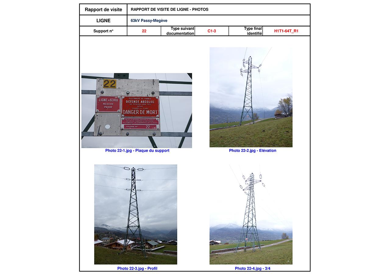 Rapport de visite ligne électrique aérienne