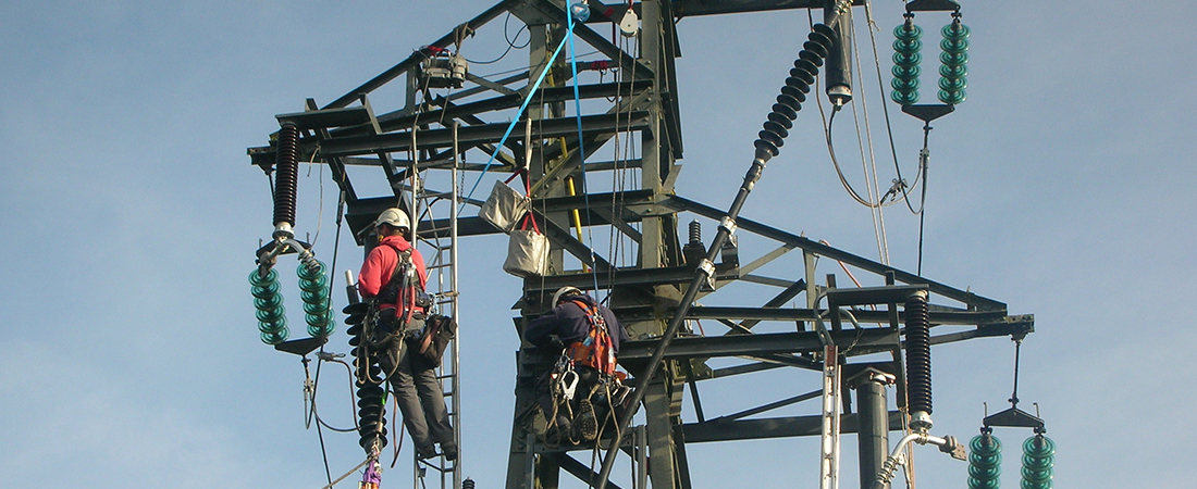 Raccordement extrémité sur pylône