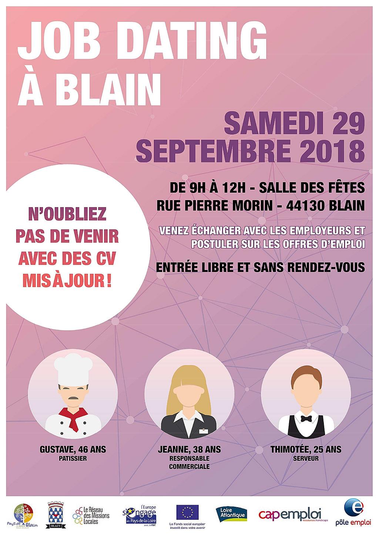 Job dating à Blain 44130 le samedi 29 septembre 2018