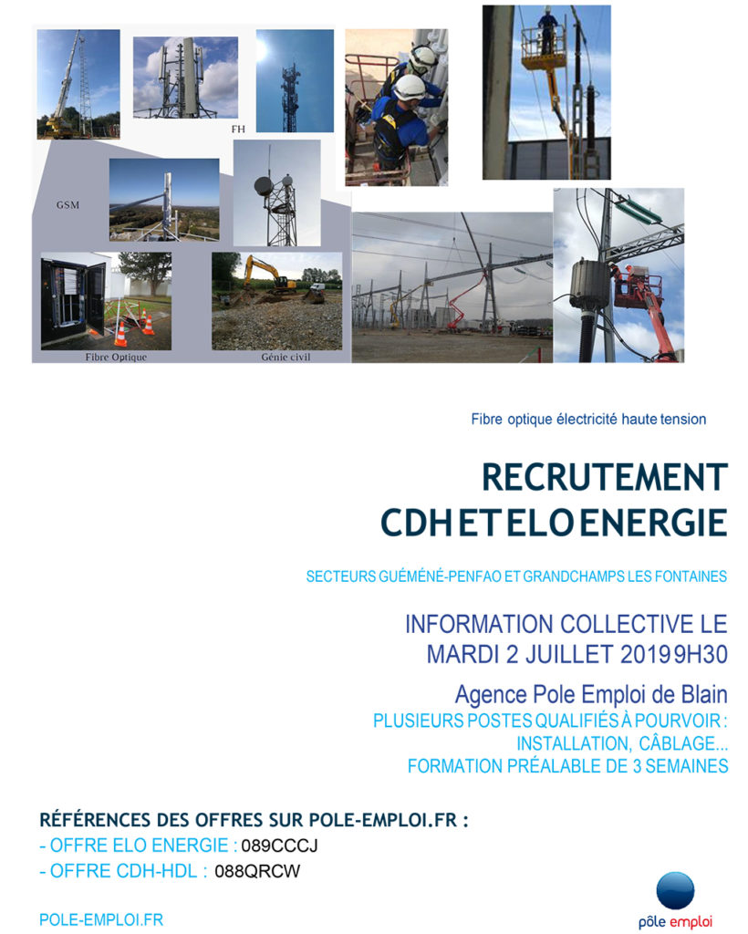 Affiche Pole Emploi - information collective à Blain